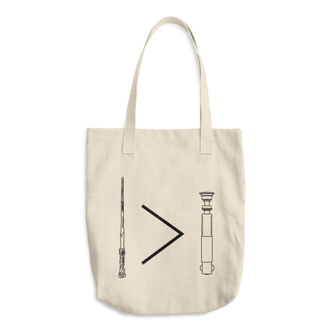 Wand>Lightsaber Cotton Tote Bag