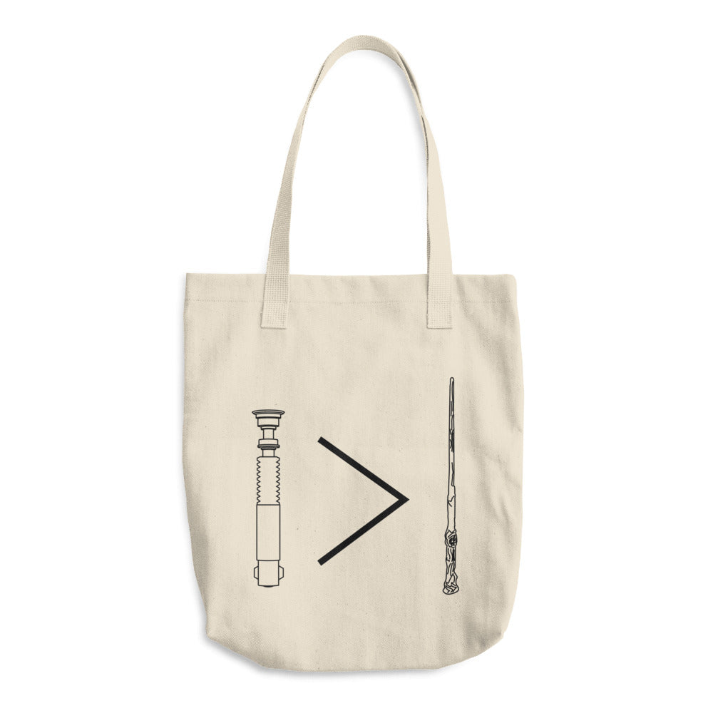 Lightsaber>Wand Cotton Tote Bag