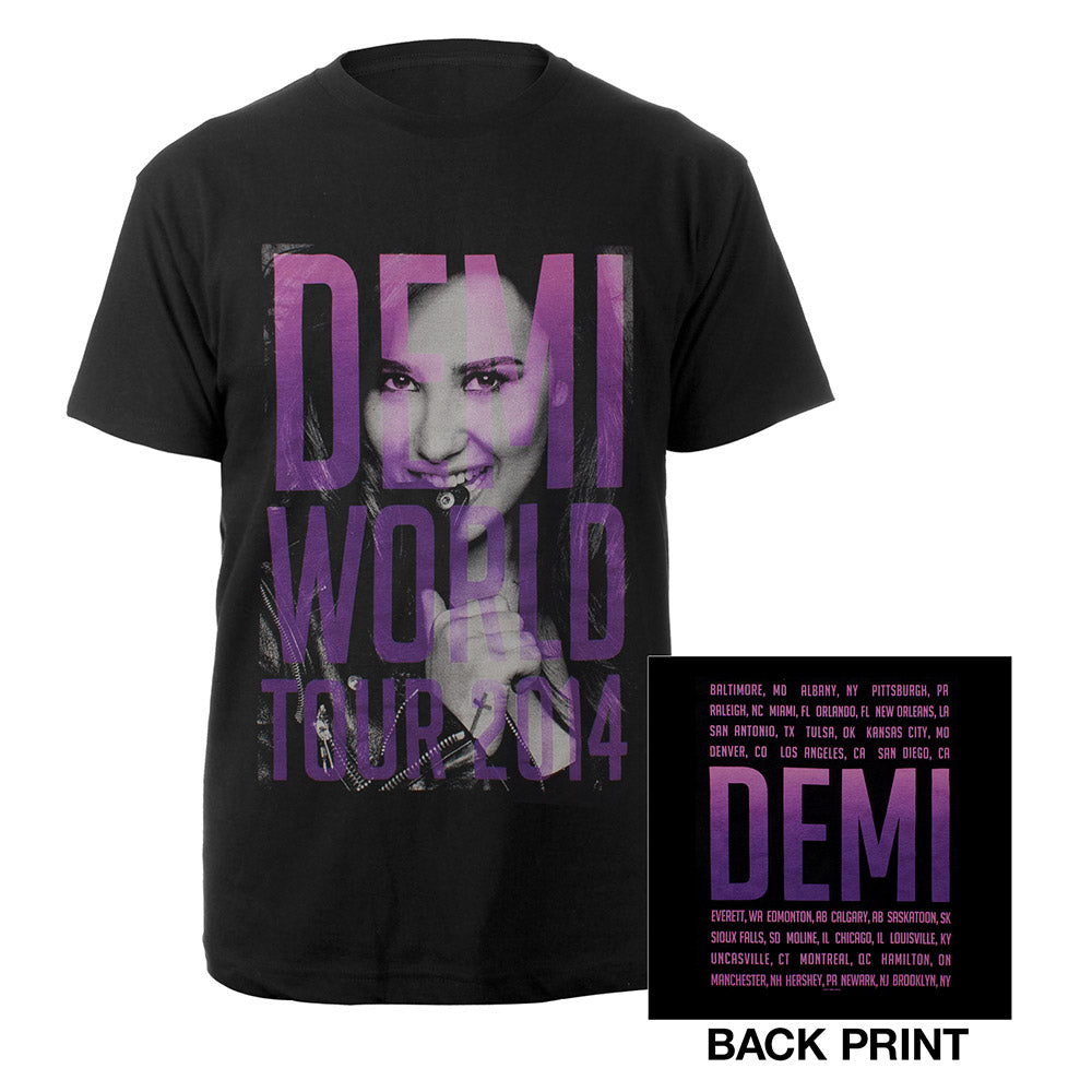 Demi Lovato World Tour Portrait Shirt