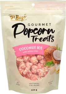 Dr Bugs Coconut Ice Gourmet Popcorn Treat 120g
