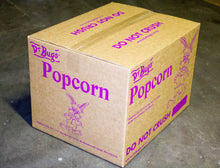 Load image into Gallery viewer, Bulk carton of Dr Bugs buttered popcorn for movie nights and fairs