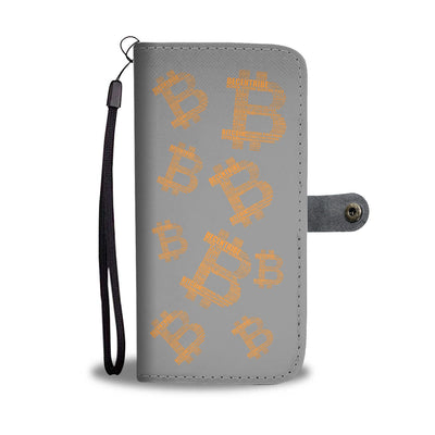 Bitcoin Multi Logo Phone Wallet