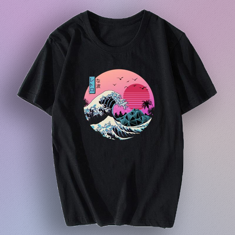 DIGITAL SUNSET x WAVE T-Shirt