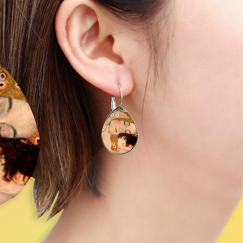 Gustav Klimt Earrings - For Aesthetics and Art Lovers