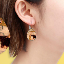 Load image into Gallery viewer, Gustav Klimt Earrings - For Aesthetics and Art Lovers