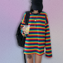 Load image into Gallery viewer, Long Sleeve Rainbow t-shirt