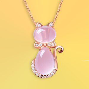 Pink Kitten Necklace - For Cats and Fashion Lovers