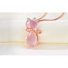 Load image into Gallery viewer, Pink Kitten Necklace