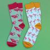 Bluestone Flamingo Socks  - For Aesthetics and Grunge Lovers