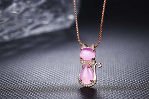 Pink Kitten Necklace