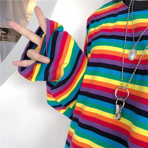 Long Sleeve Rainbow t-shirt