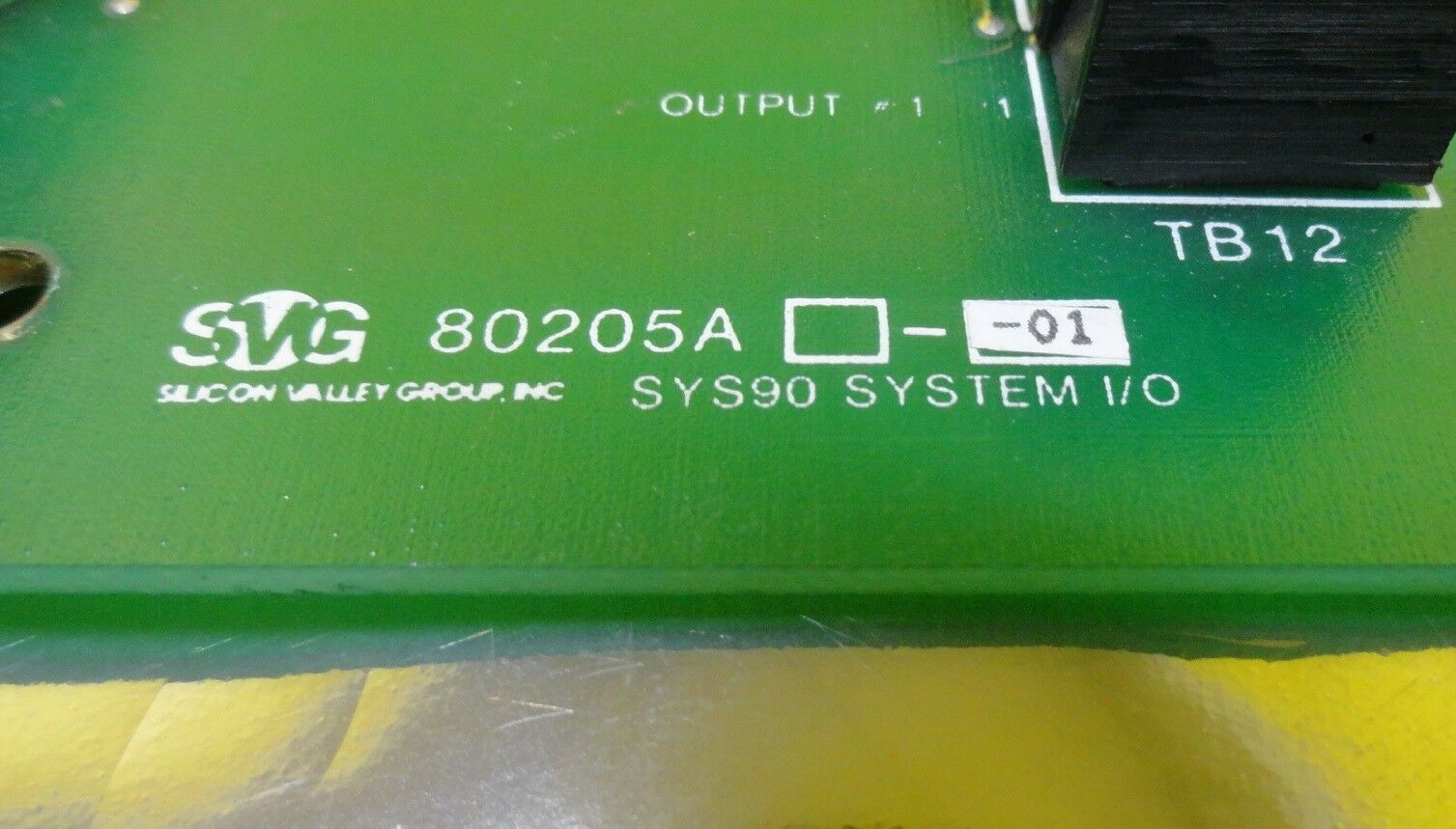 SVG Silicon Valley Group 80205A-01 SYS90 System I/O Board PCB Used Working