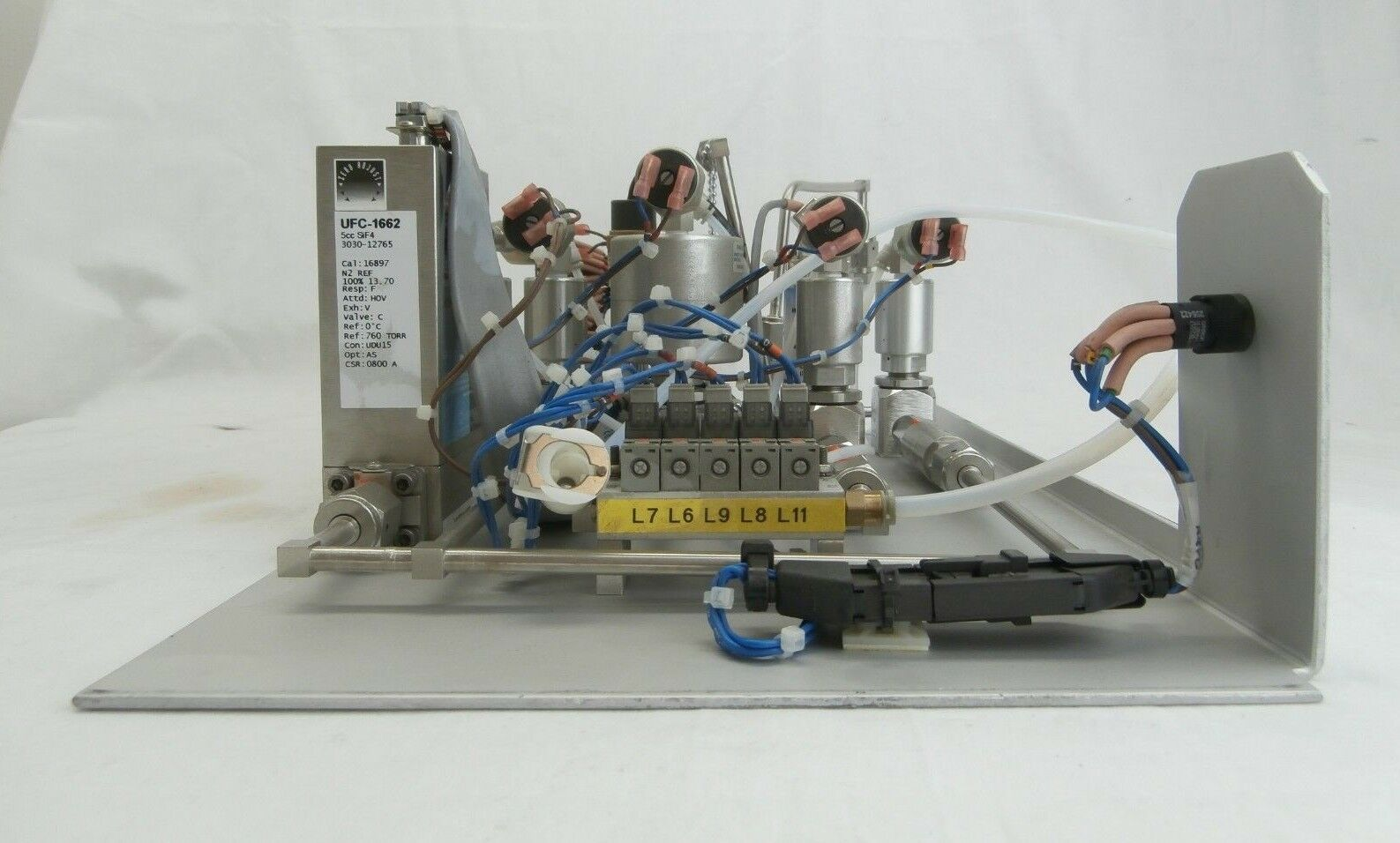 AMAT Applied Materials 9010-01382ITL Celerity SiF4 MFC Gas Panel Assembly Used