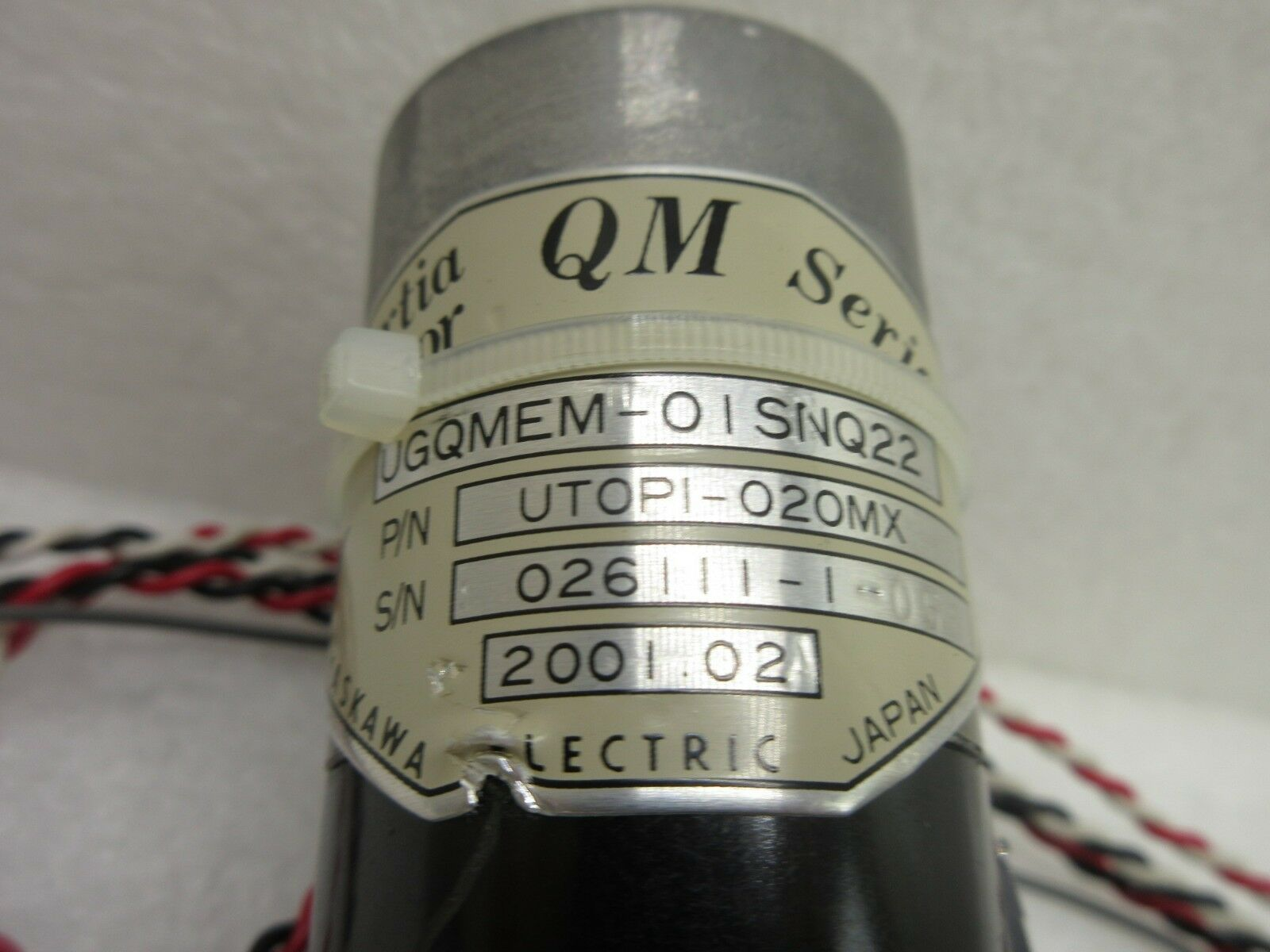Yaskawa Electric UTOPI-020MX Minertia Motor QM Series Nikon NSR-S204B Used