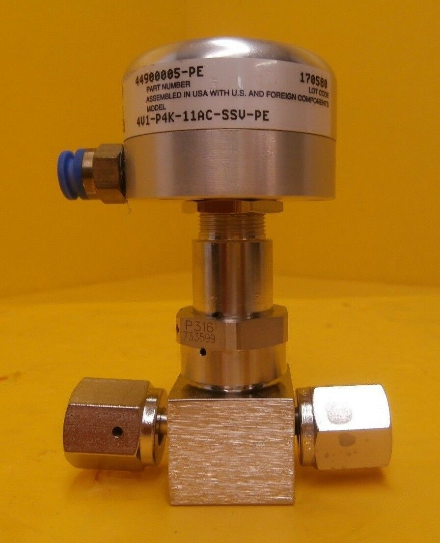 Parker Veriflo 44900005-PE High Purity Bellows Valve 4V1-P4K-11AC-SSV-PE Used