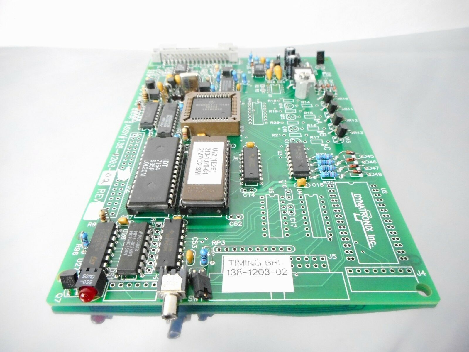 Dynatronix 138-1203-02 Timing Board PCB TIMING BRD Untested AS-IS