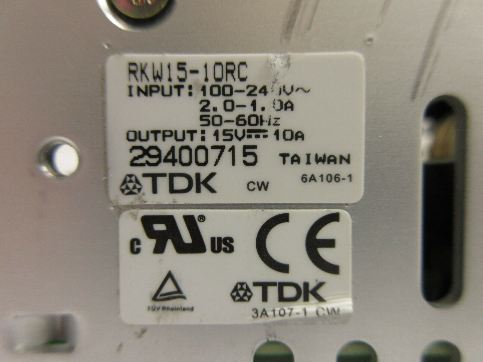 TDK RKW15-10RC Power Supply Nikon NSR System Used Working