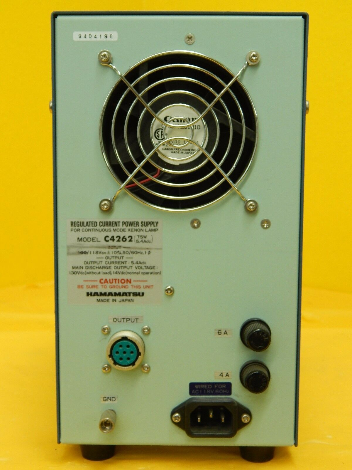Hamamatsu C4262 Xenon Lamp Regulated Current Power Supply Used Working