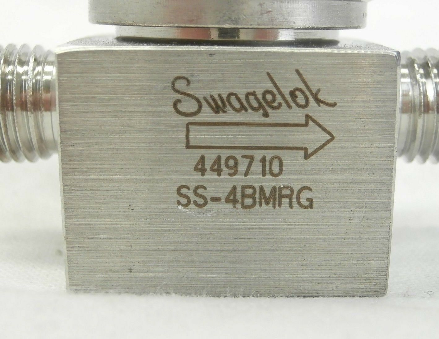 Swagelok SS-4BMRG Bellows Sealed Metering Valve NUPRO Used Working