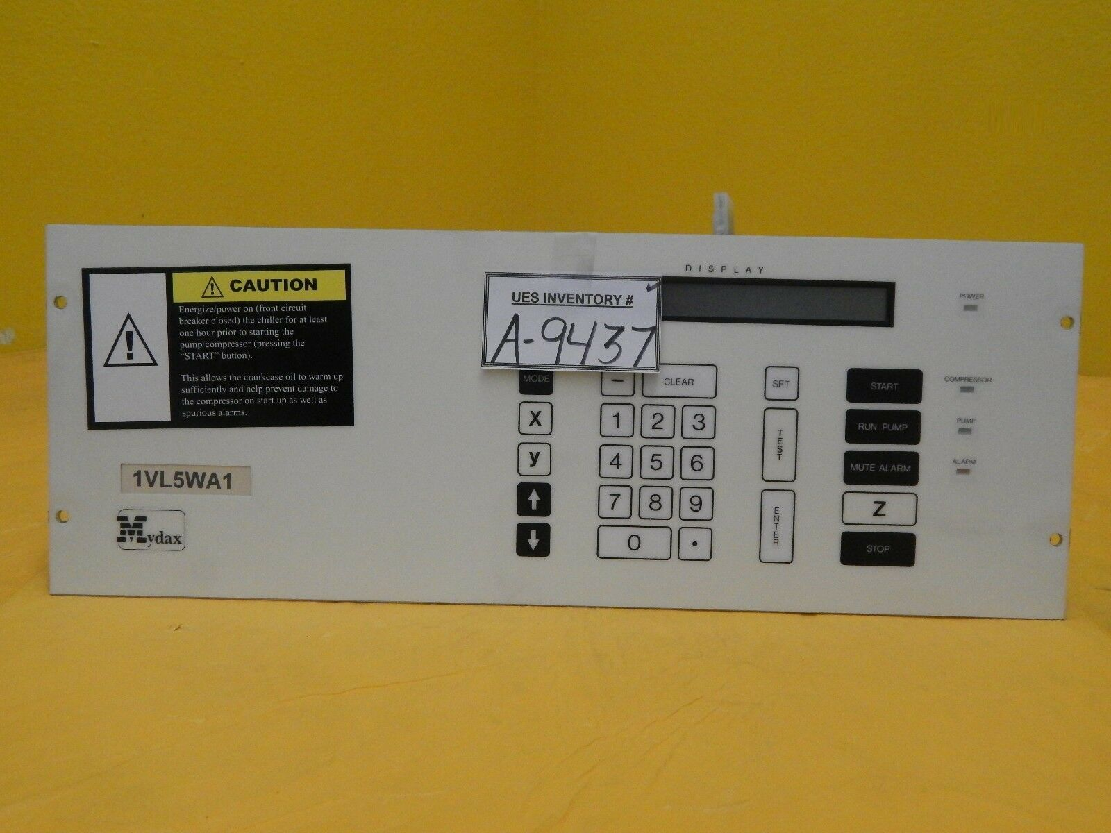 Mydax M1001E Chiller Operator Interface Controller Panel 1VL5WA1 Used Working