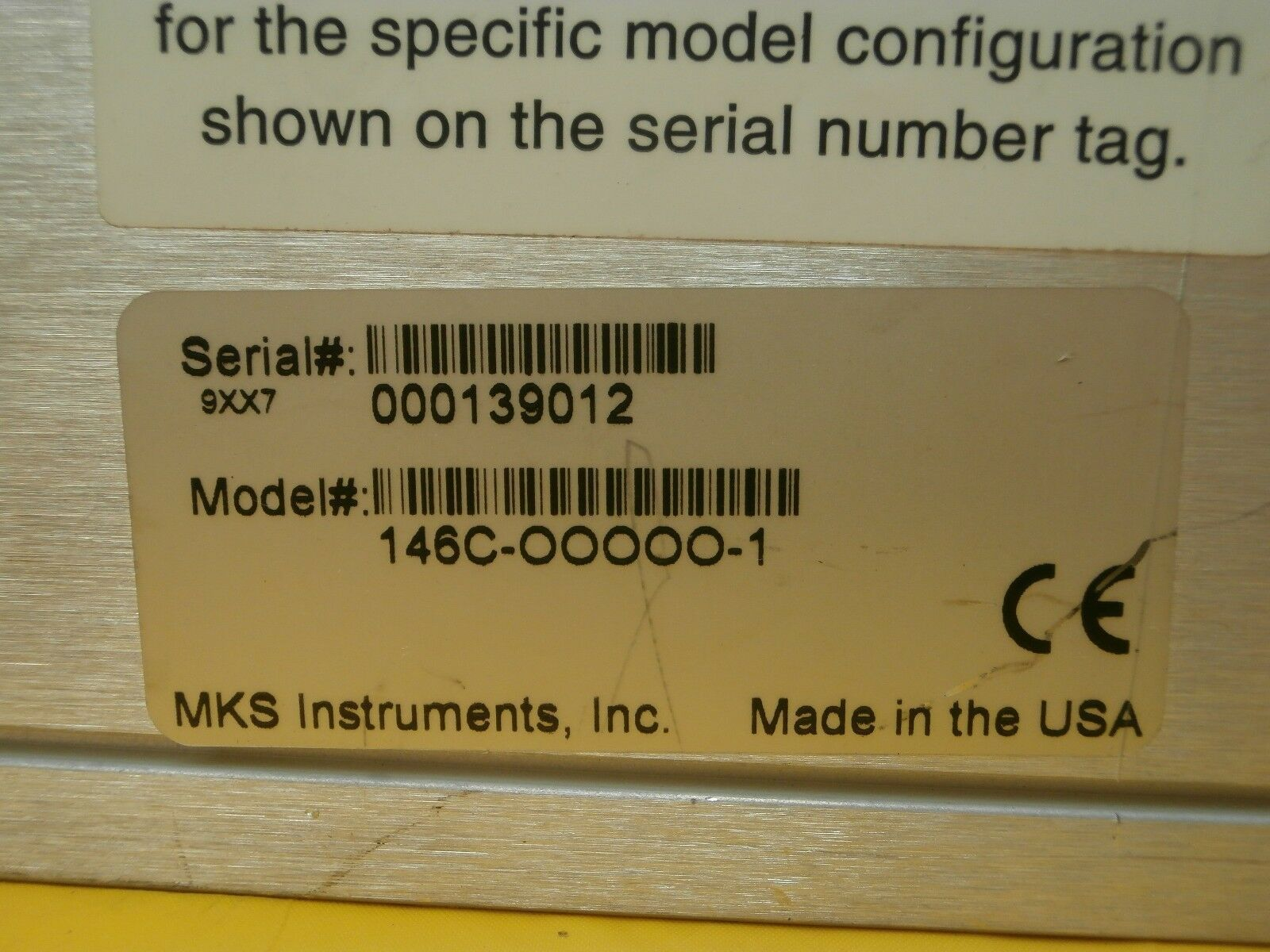 MKS 146C-OOOOO-1 Vacuum Gauge Measurement & Control System Used Tested Working