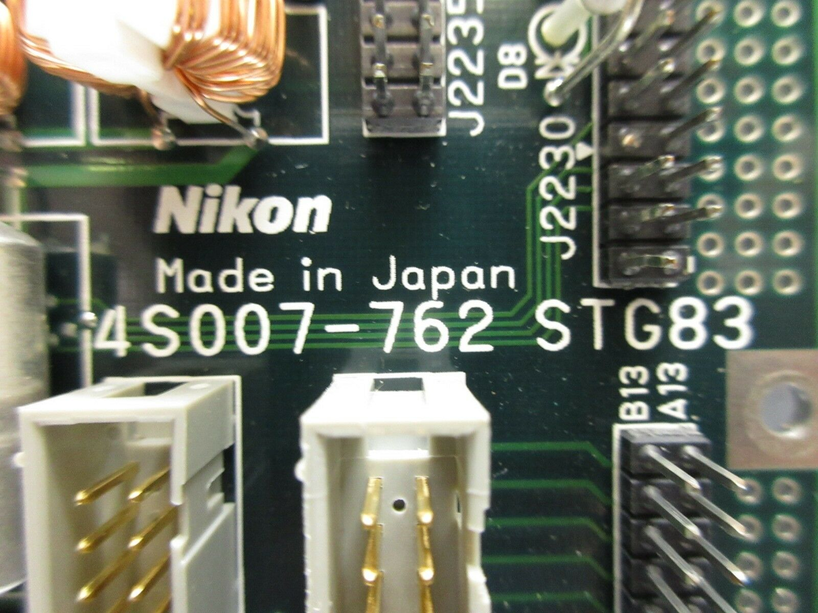 Nikon 4S007-762 Interface Board PCB STG83 NSR-S204B System Used Working