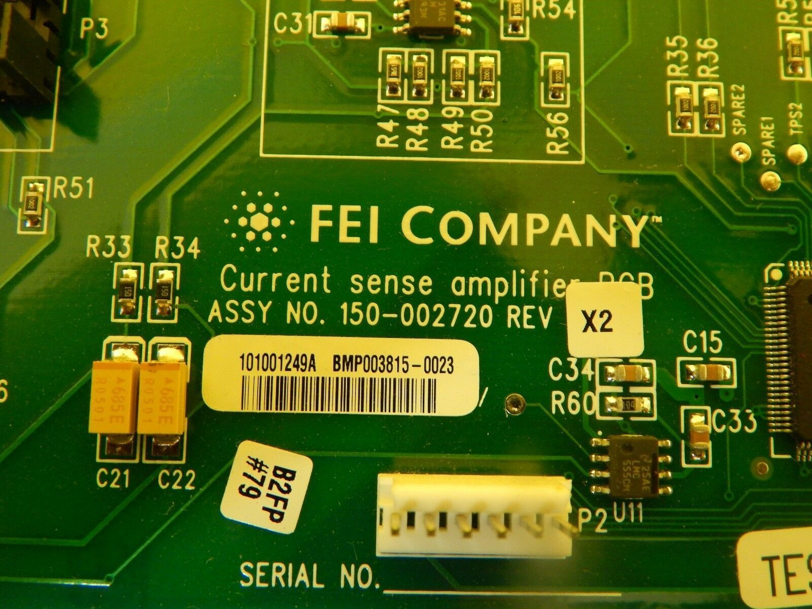 FEI Company 150-002720 Current Sense Amplifier PCB Card CLM-3D Used Working