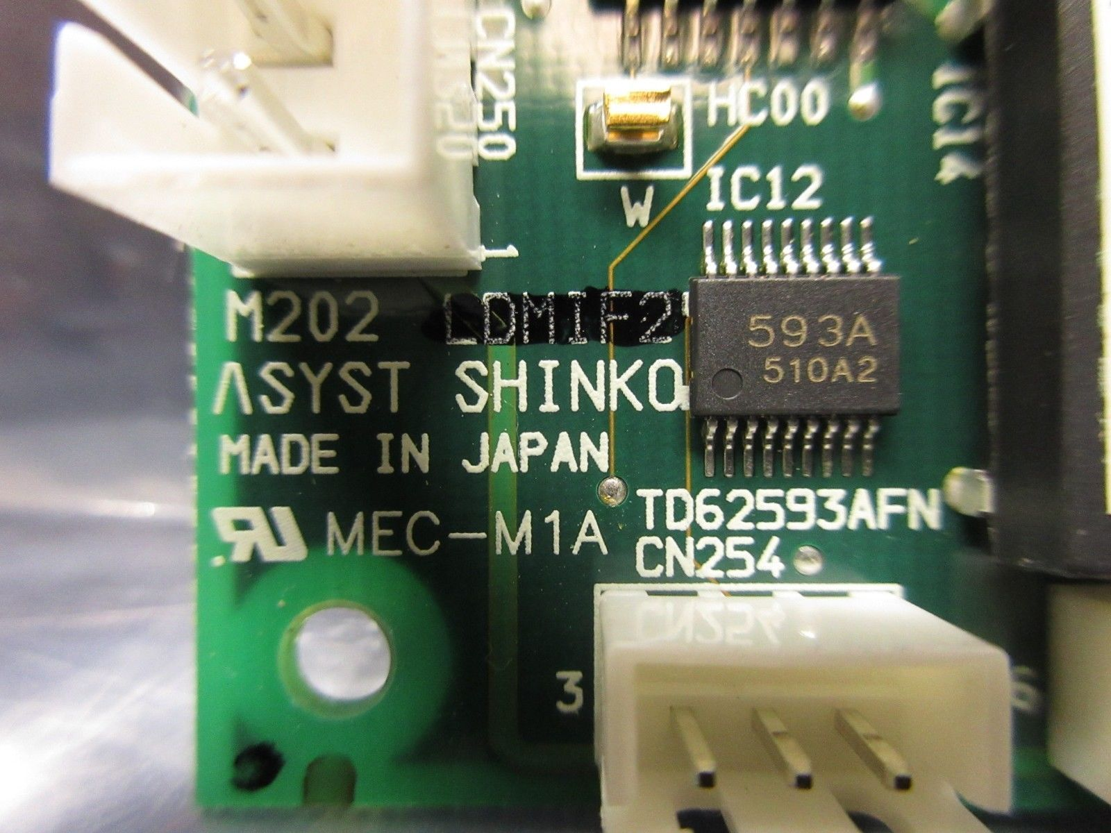 Asyst Shinko HASSYC810601 Processor Board PCB LDMIF2A M202 Used Working