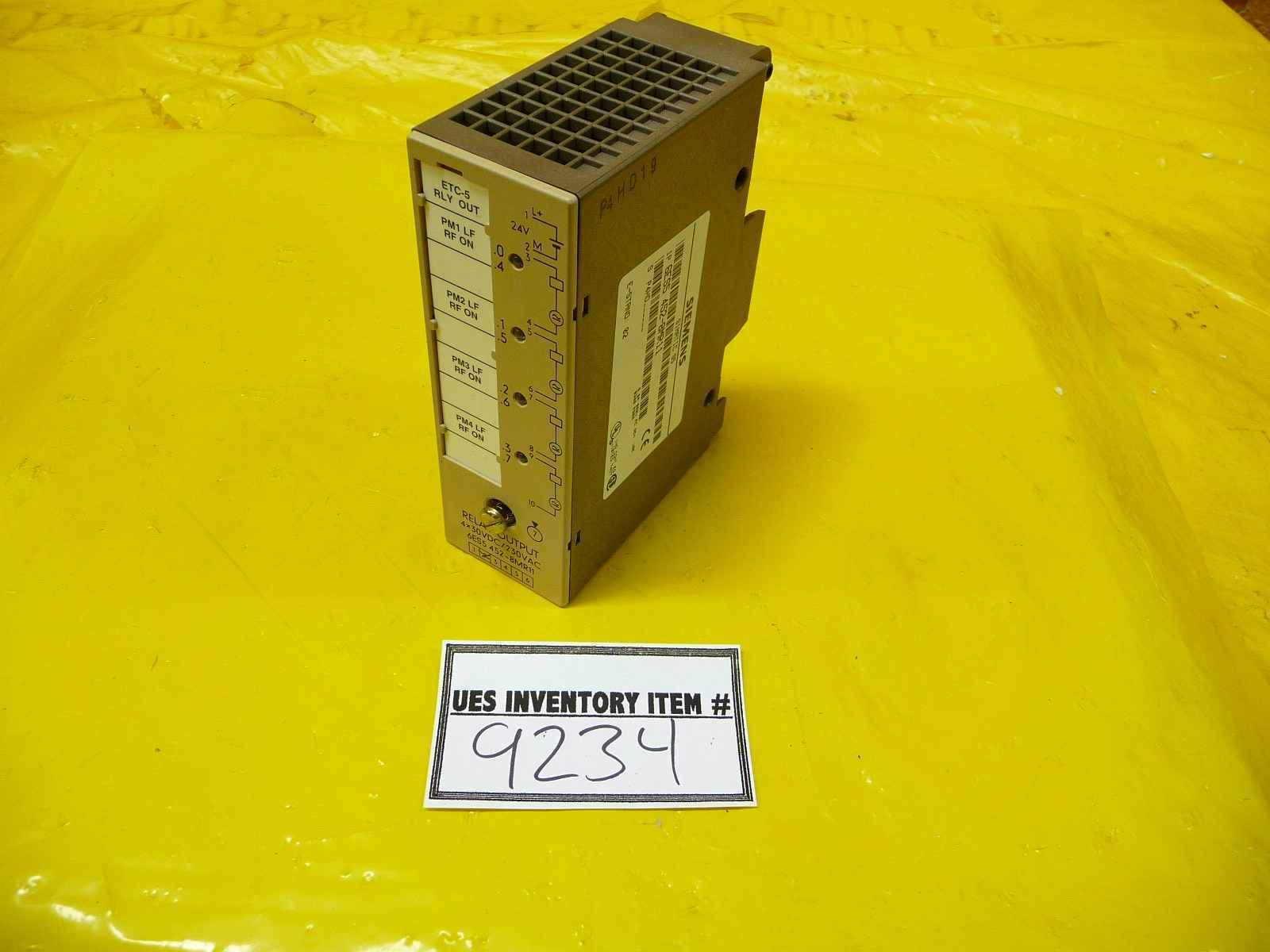 Siemens 6ES5 452-8MR11 Relay Output SIMATIC S5 Used Working