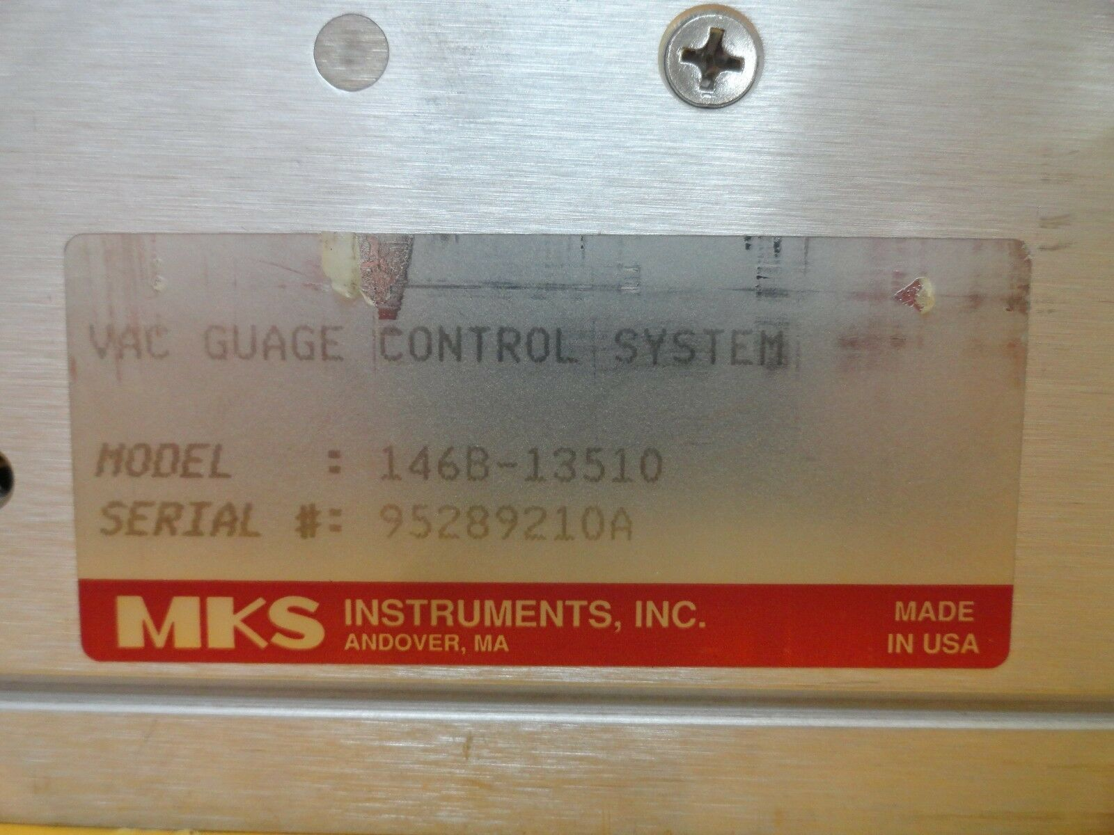 MKS 146B-13510 Vacuum Gauge Measurement Control System Used Tested Working