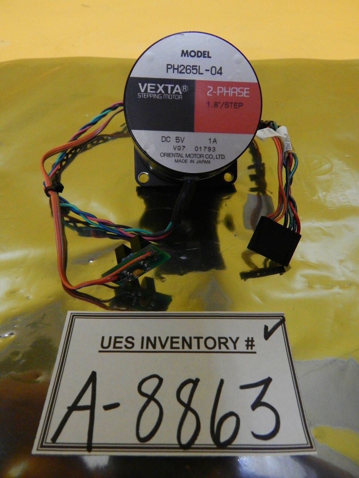 Oriental Motor PH265L-04 2-Phase Stepping Motor VEXTA Used Working