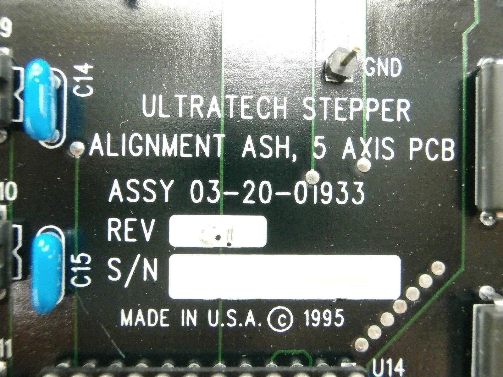 Ultratech Stepper 03-20-01933 5 Axis ASH Alignment Board PCB Titan Used Working