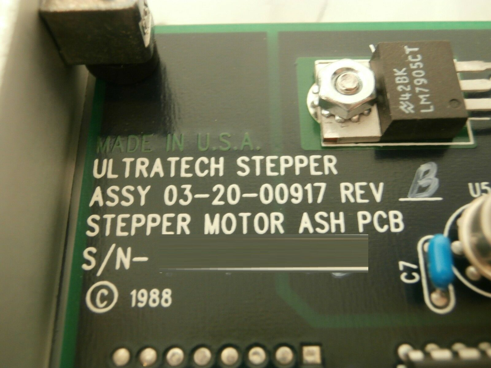Ultratech Stepper 03-20-01403-02 Stepper Motor ASH VME PCB Card 4700 Titan Used