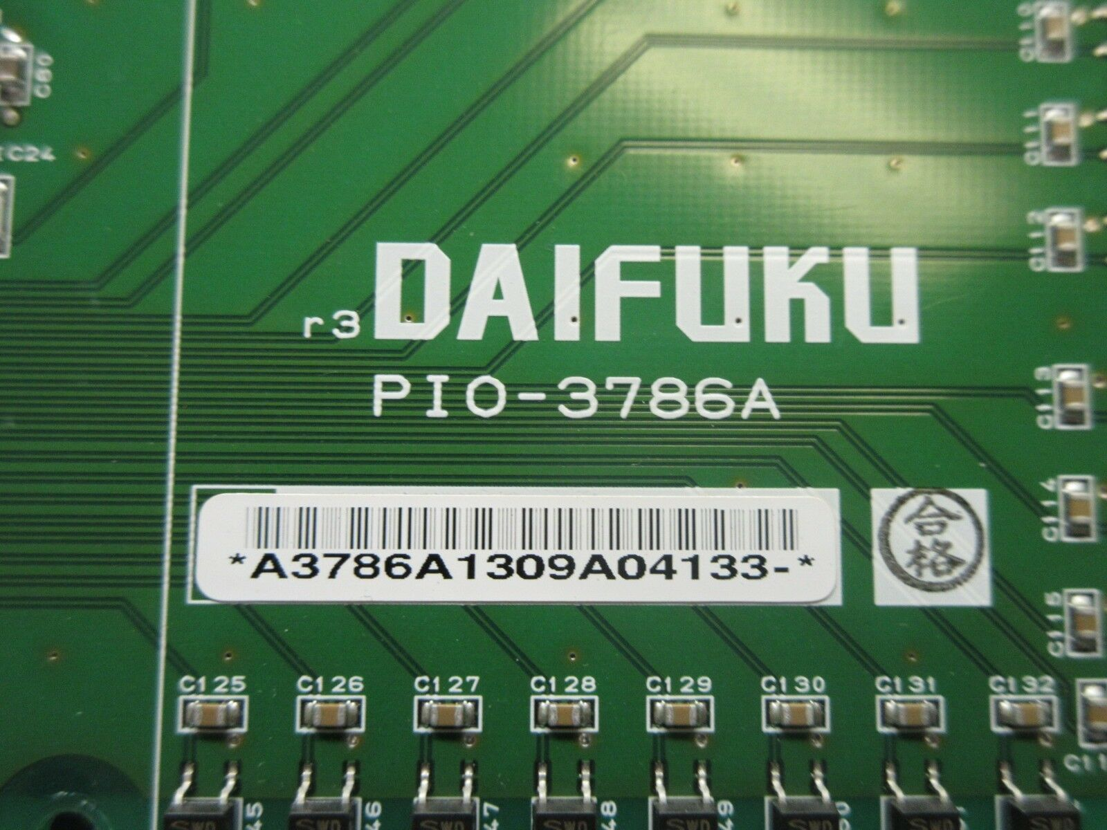 Daifuku PIO-3786A LED Display Board PCB Used Working
