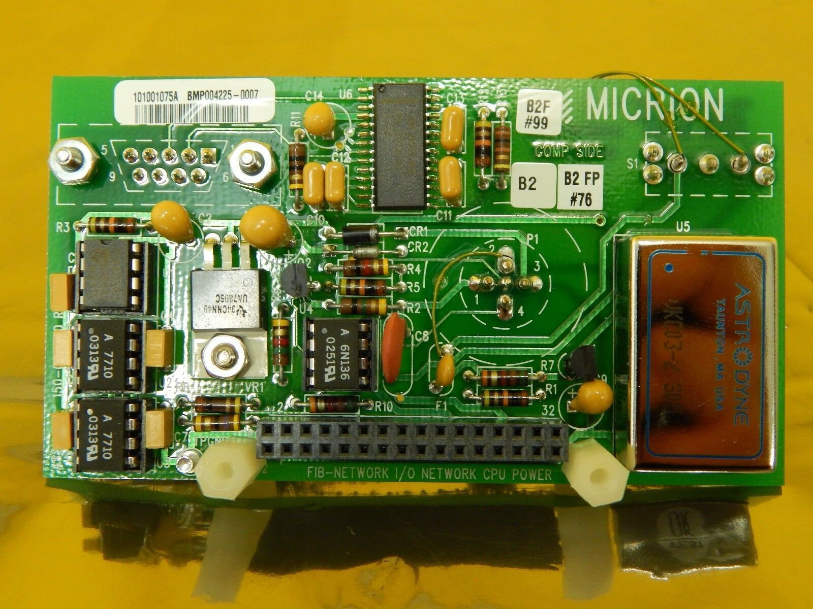 Micrion 150-002300 FIB-NETWORK I/O Network CPU Power Board FEI CLM-3D Used