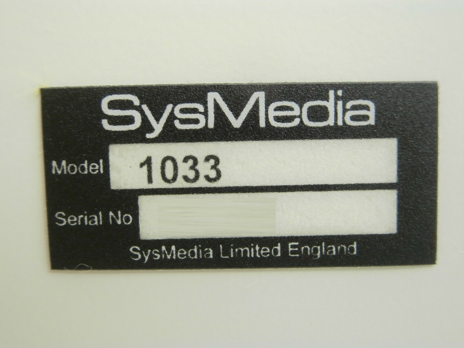 SysMedia 1033 Teletext Calibrated Distortion Unit Used Working
