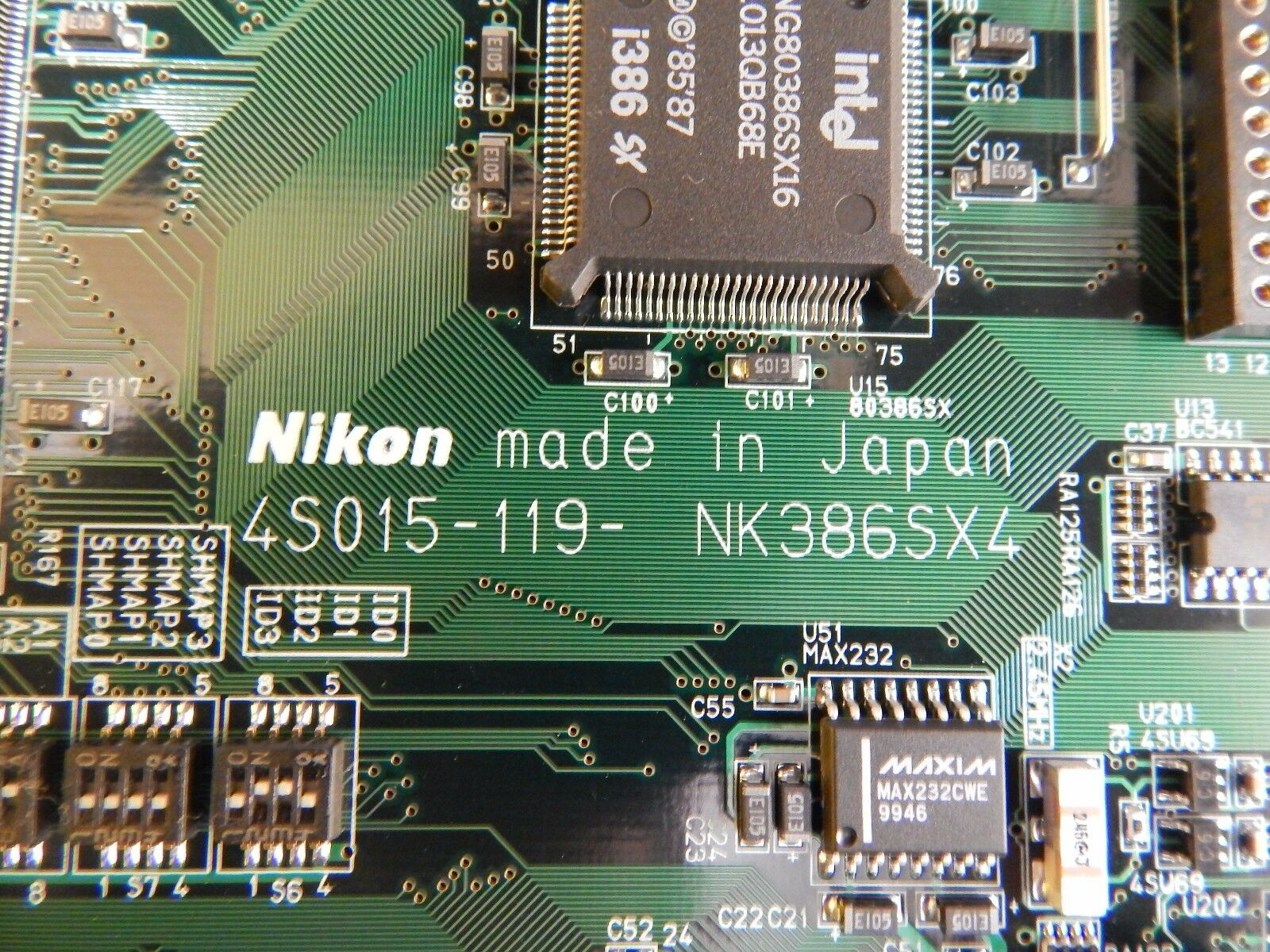 Nikon 4S015-119 Processor Board PCB NK386SX4 NSR-S307E DUV 300mm Used Working