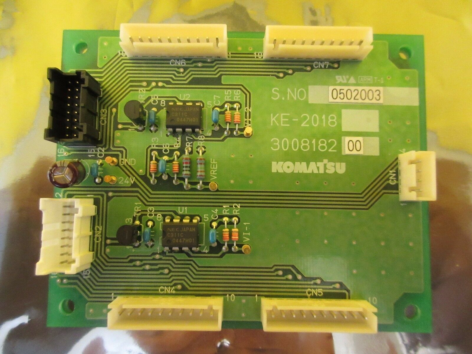 Komatsu 300818200 KE-2018 Interface Board PCB Used Working