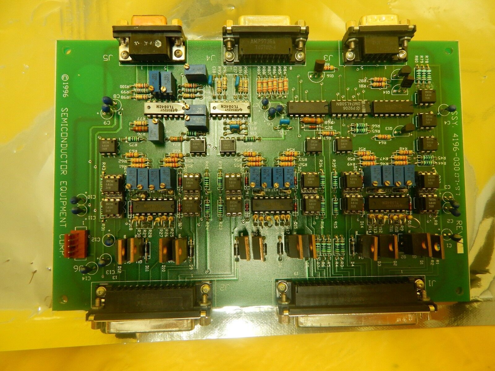 Semiconductor Equipment Corp 4196-030 Amplifier PCB Board 410 Bonder Used