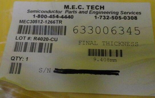 M.E.C. Tech MEC30512-1266TR Process Plate Copper Exposed Used Working