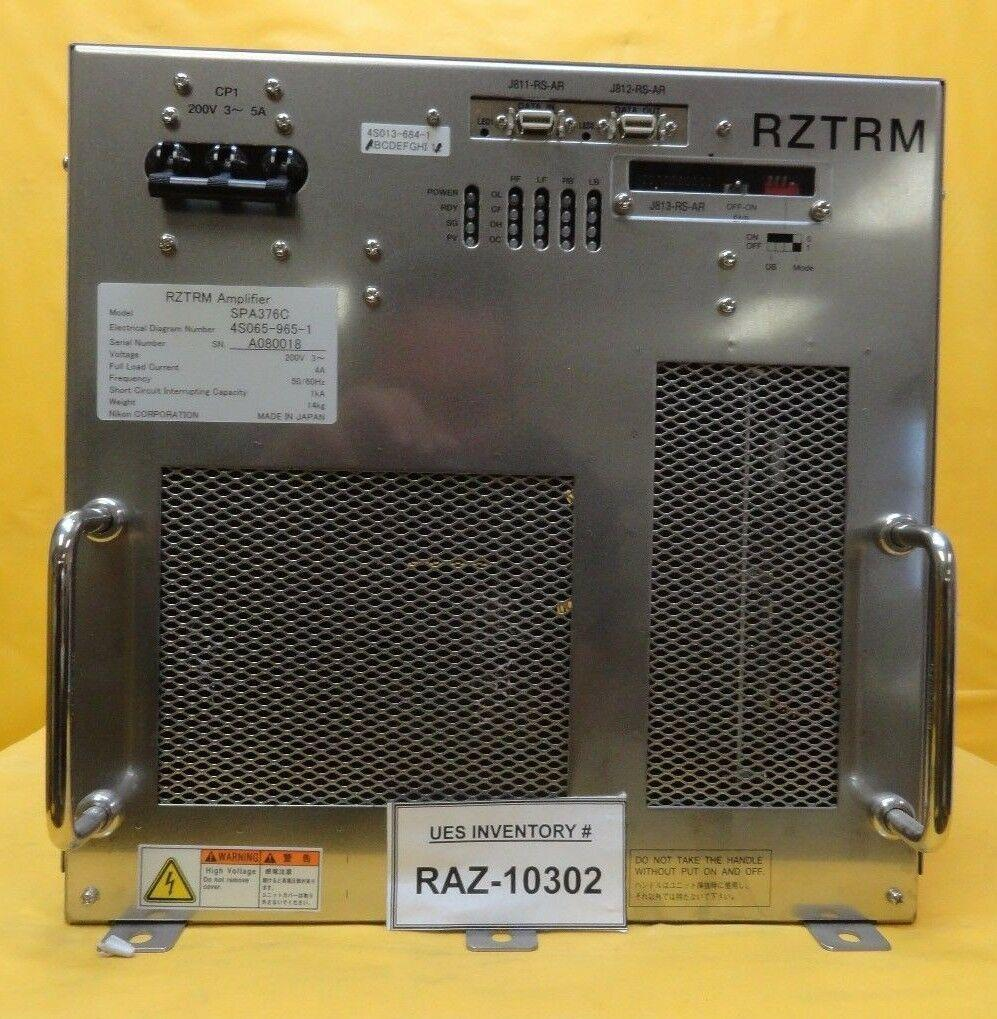 Nikon 4S065-965-1 RZTRM Amplifier SPA376C NSR System Used Working