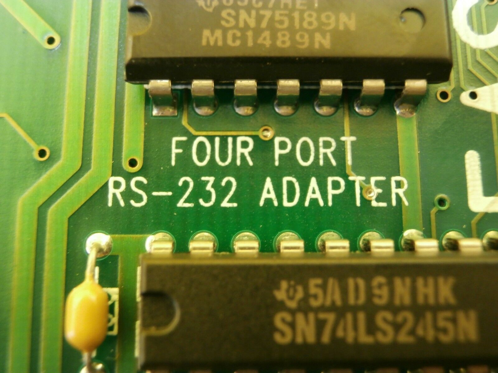 Commtech FASTCOM:4W Four Port RS-232 Adapter PCB Card Used Working