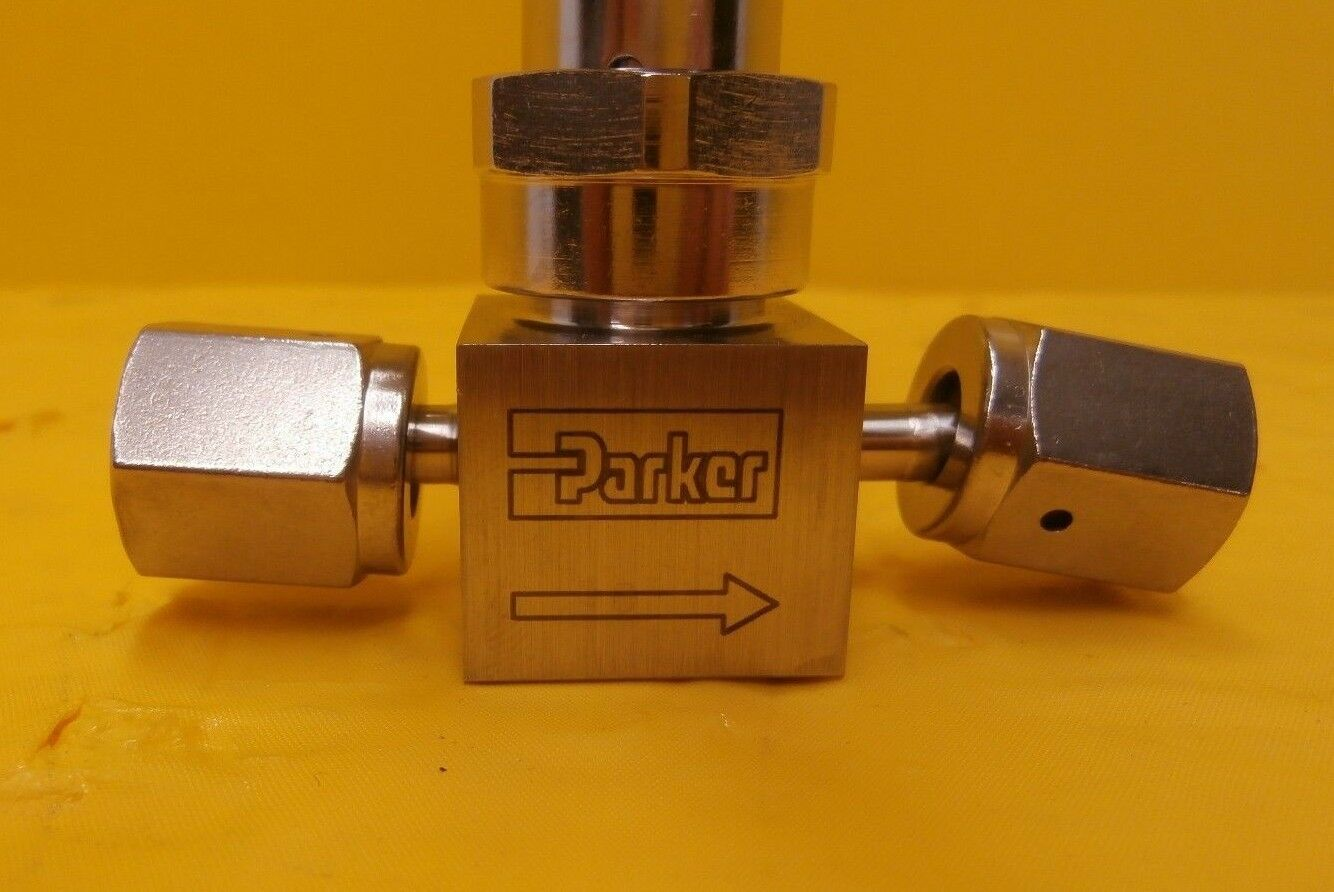 Parker Veriflo 4V1-P4K-11AC-SSV-PP High Purity Bellows Valve Used Working
