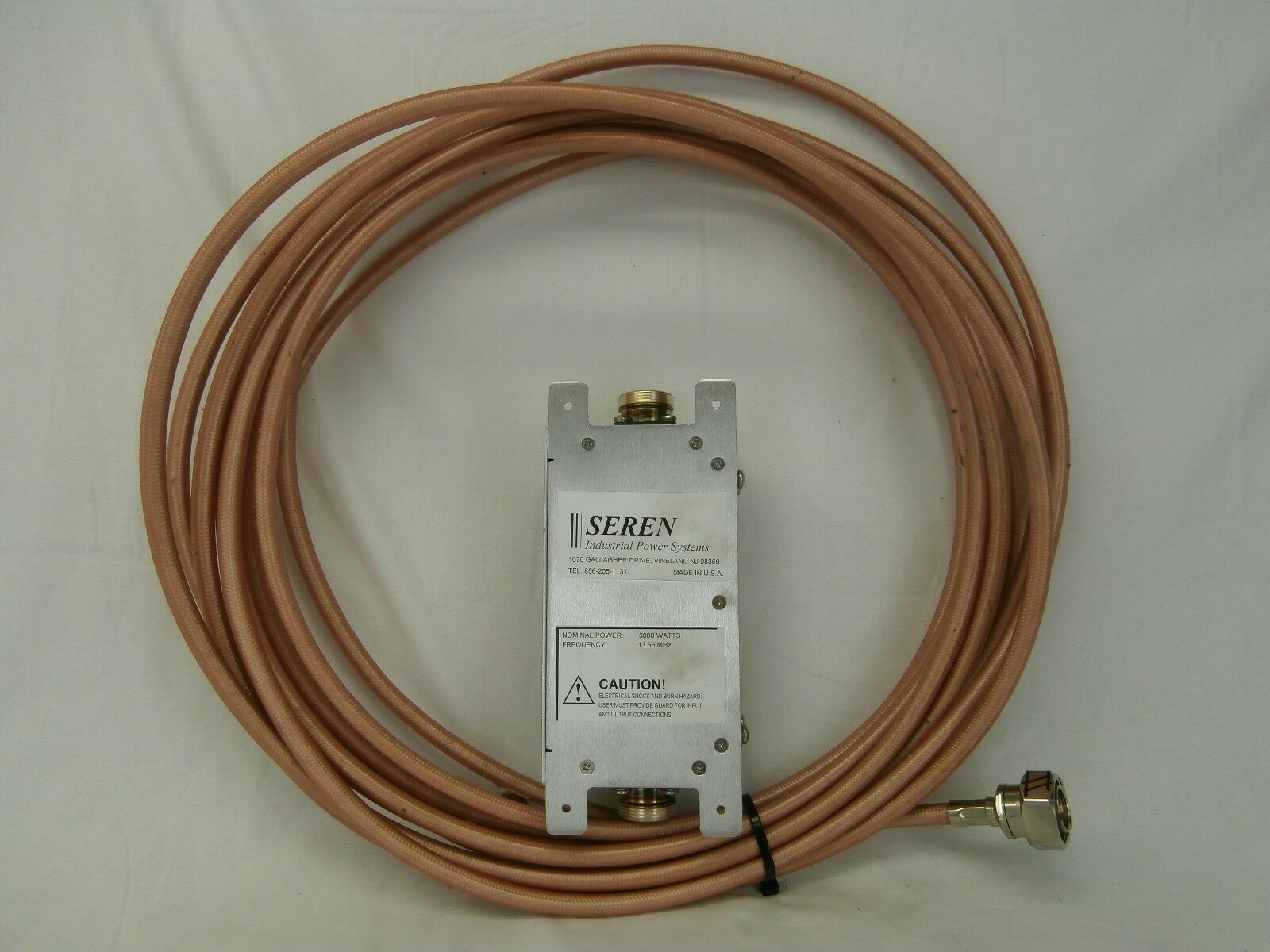 Seren 9500160000 27.12MHz RF Trap LPF2S5K with 10.5M RF Cable Used Working
