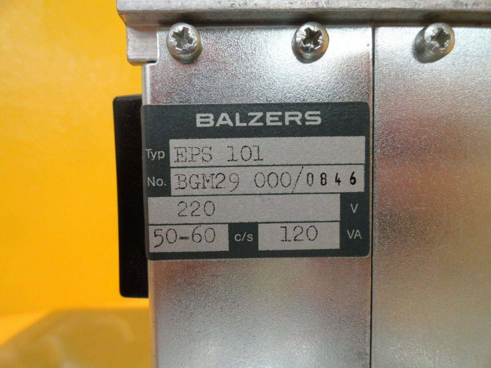Balzers BG M29 000 Power Supply PCB Card EPS 101 EPS101 Used Working