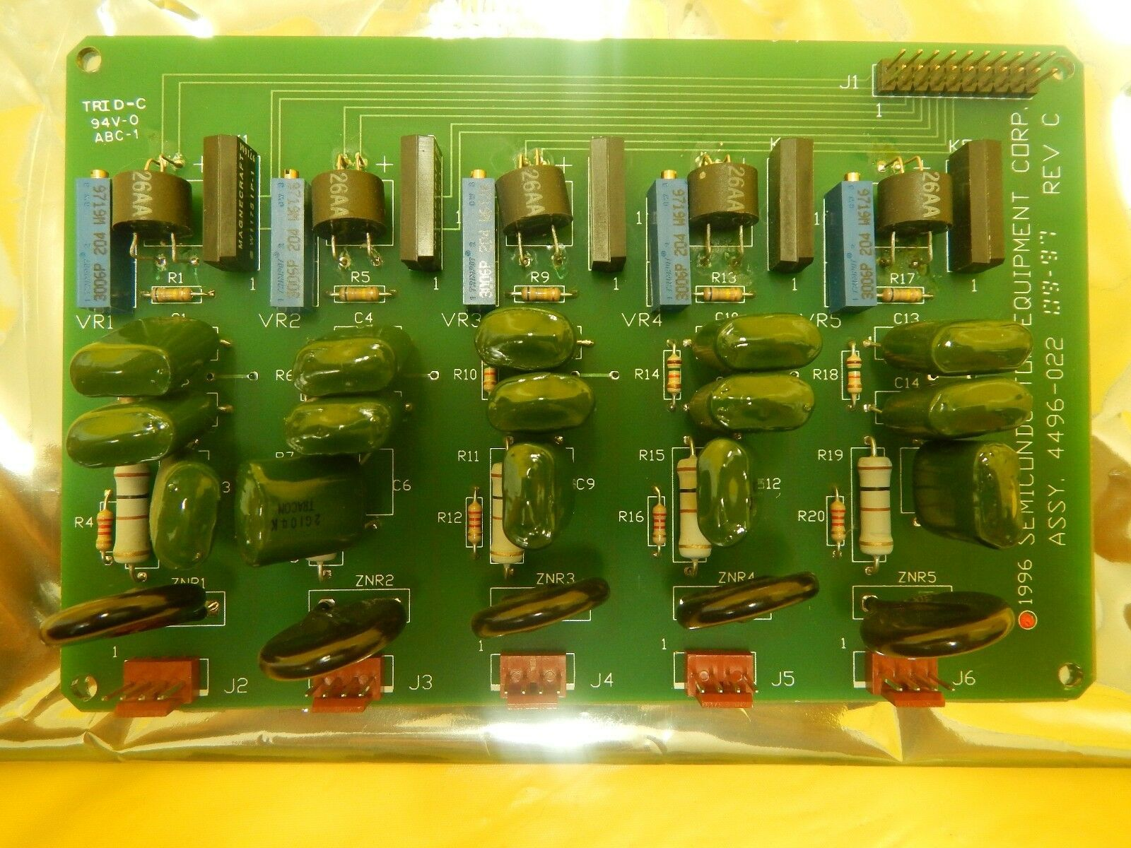 Semiconductor Equipment Corp 4496-022 Resistor PCB Board 410 Bonder Used Working