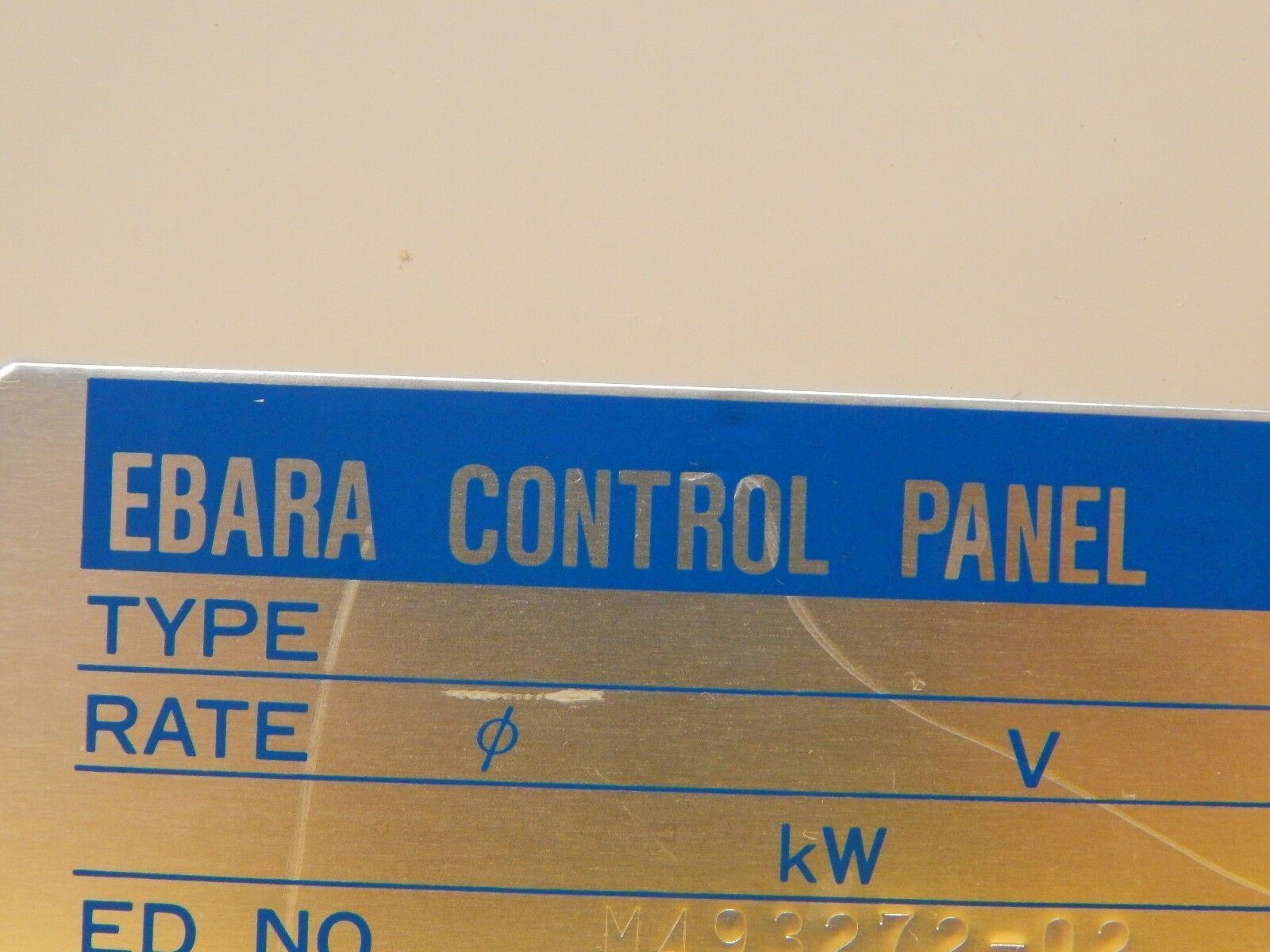 Ebara Vacuum Control Panel Interface Module Omron H3BH AMAT P5000 Used Working