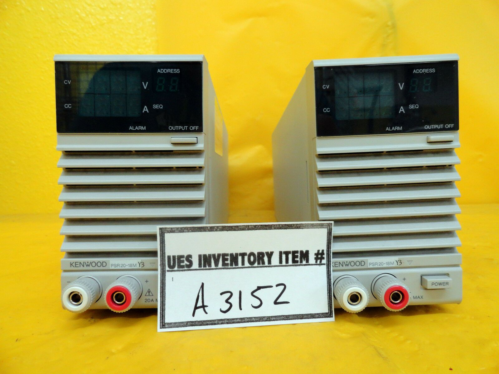 Kenwood Regulated Power Supply PSR20-18MY3 Lot of 2 Used Working