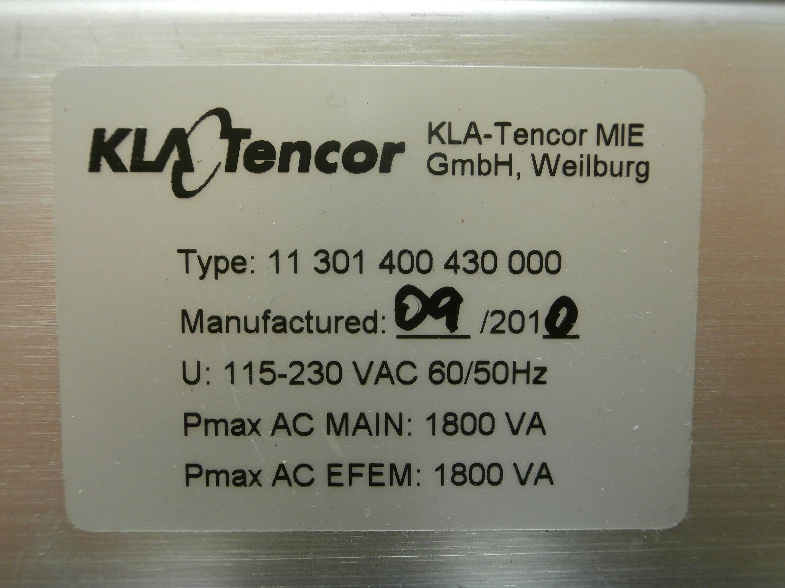 KLA-Tencor 11301400430000 NG Power Supply Unit 11 301 400 430 000 Used