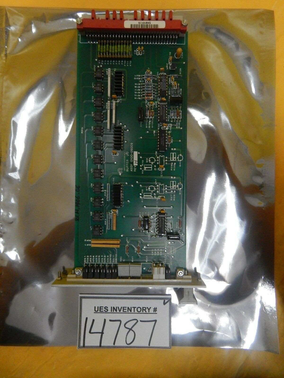 AMAT Applied Materials 0100-09009 Buffer I/O PCB Card Rev. H Precision 5000 Used